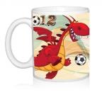 Шаблон 2012 Дракон играет в футбол