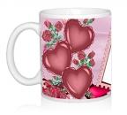 Шаблон День св.Валентина три сердца