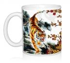 Шаблон Тигр и сакура