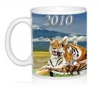 Шаблон Тигры и фудзияма