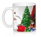 Шаблон Веселый Дед мороз