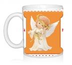 Шаблон Ангелочки с колокольчиками